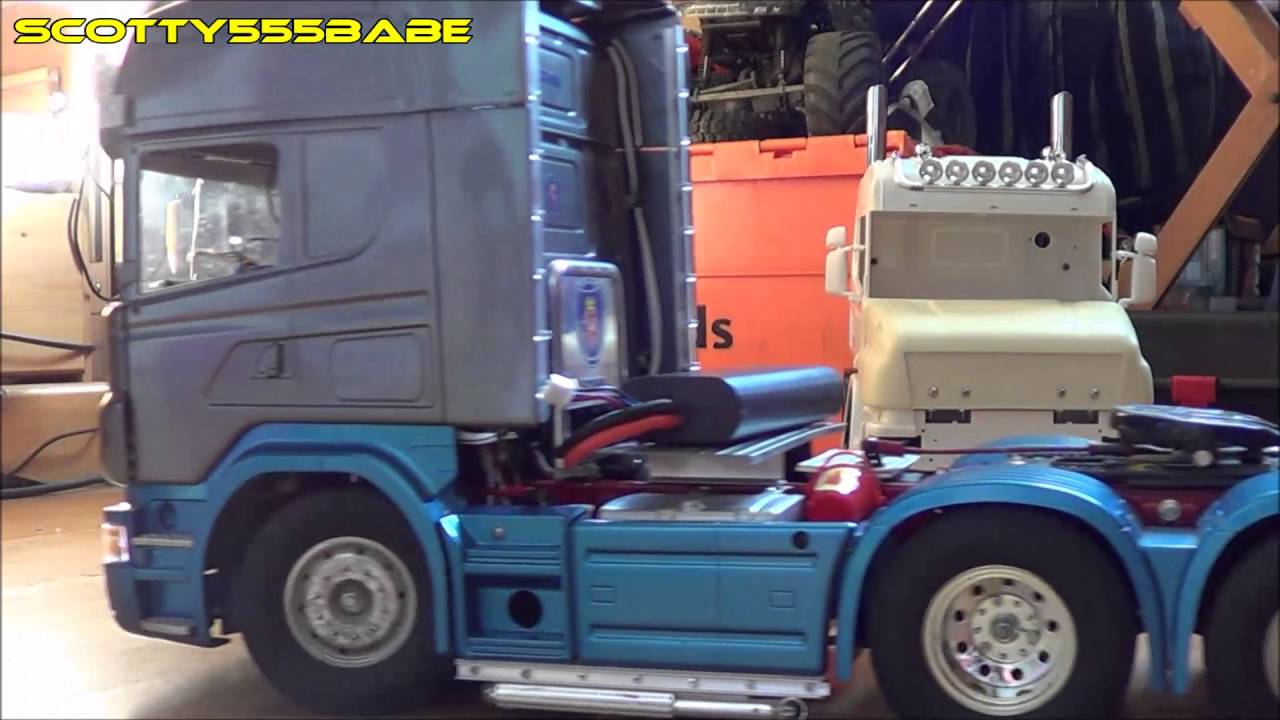Rc trucks tamiya scania update more light bars on the rear youtube aloadofball Choice Image