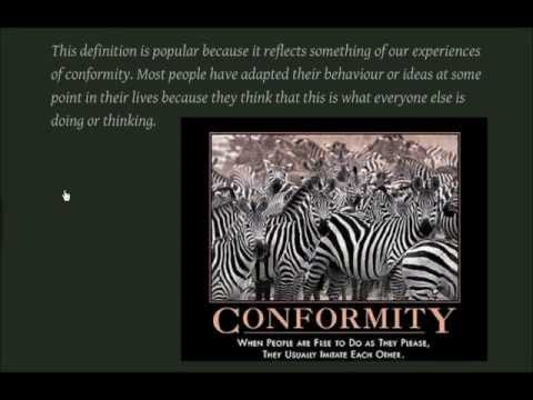 Social Influence - Conformity and Resistance