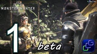 Monster Hunter World Beta PS4 Gameplay - Part 1 - Single Player: Quest: Great Devourer, Great Jagras