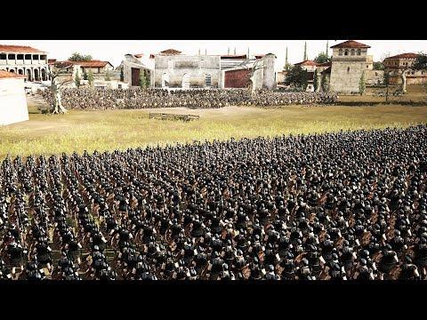 Ахиллес с Мирмидонцами Штурмуют Троянский Город! Зрелищная Битва 2760 VS 3120 в Total War: Rome 2