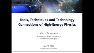 Tools, Techniques and Technology Connections of Particle Physics