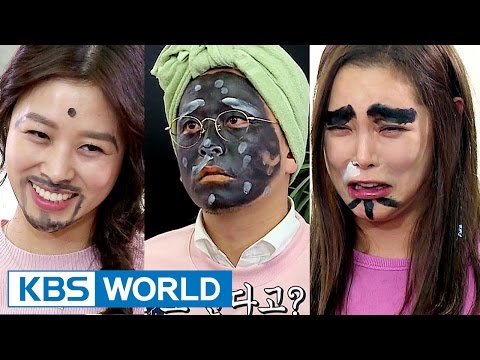 Kim Junho & Daughter's crapshoot game for funny make-over [Guesthouse Daughters / 2017.03.21]