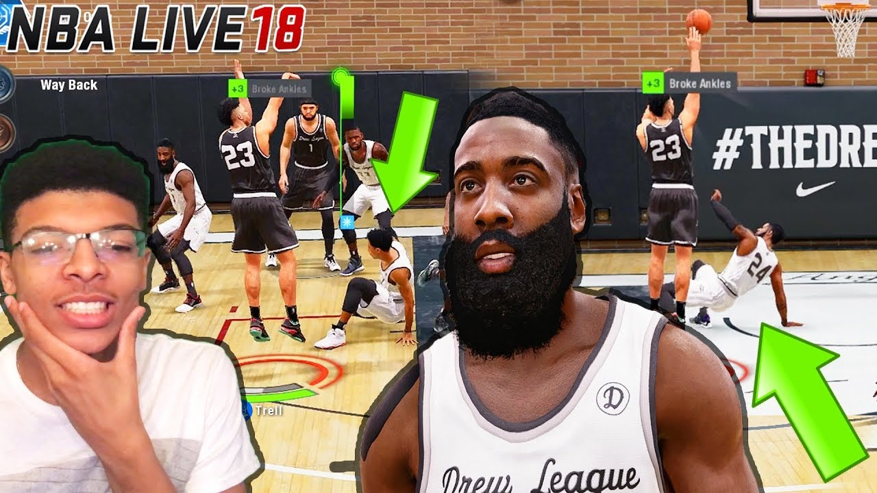 a8548a3b603f NBA Live 18 - Best Wing Shooter Vs. James Harden !! So Many Ankle Breaker  Animations !!