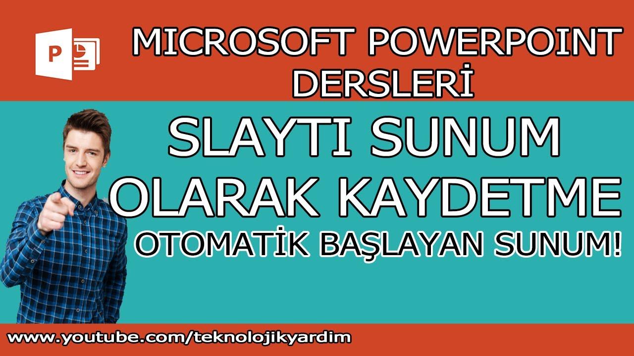 PowerPoint sunusunu kaydetmek için nasıl önemli ipuçları