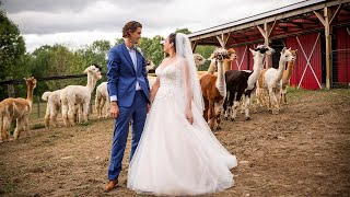 Alpaca Farm Micro Wedding | Samantha & Ben
