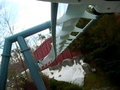Alpengeist Roller Coaster ride at Busch Gardens Williamsburg, Virginia POV