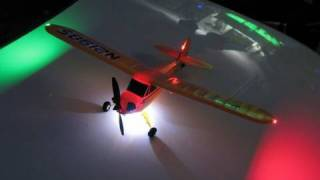I turned my PZ Micro  J-3 cub into a Night Flyer by NightFlyyer.