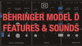 Behringer Model D #01 - Features Sounds & Patches