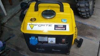 Обзор и проверка бензинового генератора Forte 1250