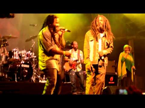 Kymani Marley, Andrew Tosh & Marcia Griffiths, 'Trenchtown Rock', Rototom Sunsplash 2012