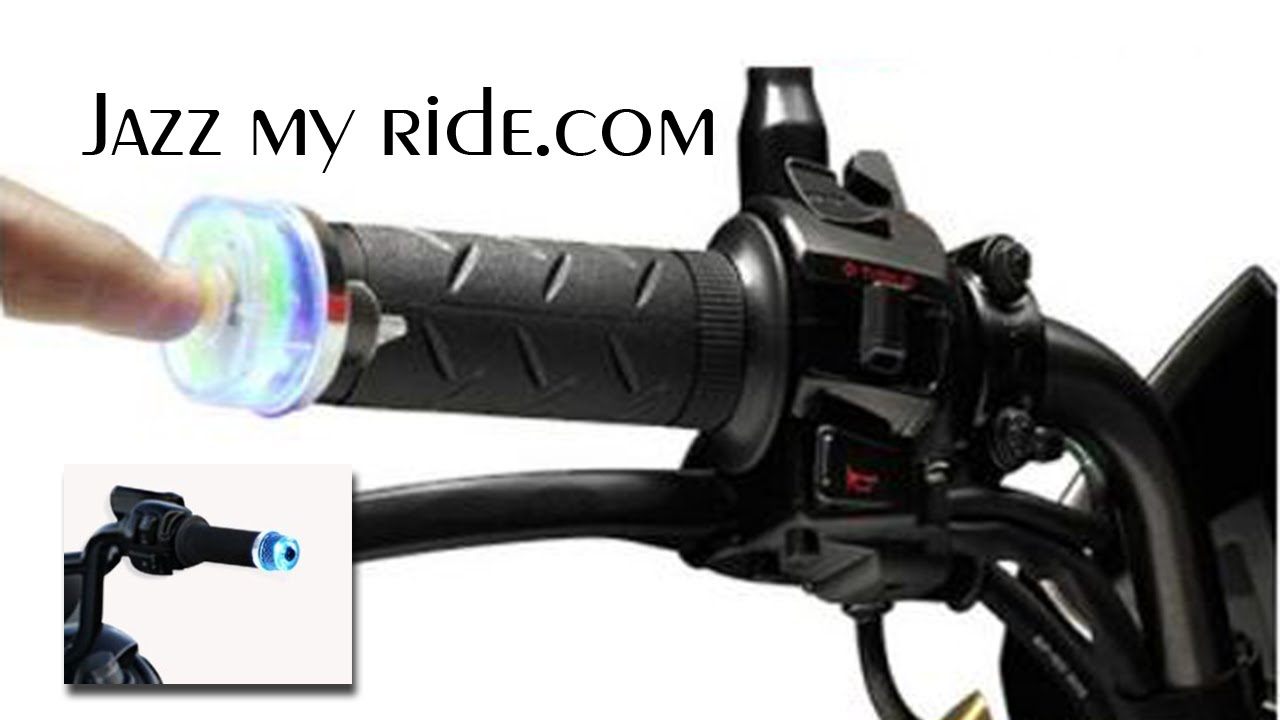 Speedwav Stylish Bike Handle Grip Edge Blue Led Light