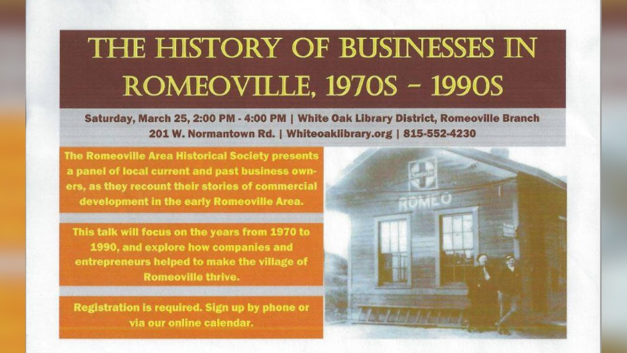 Romeoville Area Historical Society The History Of Businesses In Romeoville  1970s-1990s  Vor-Tv Village Of Romeoville Television 01:20:04 HD
