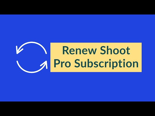 How to renew your Shoot Pro subscription | 3S Shooting Sports Software