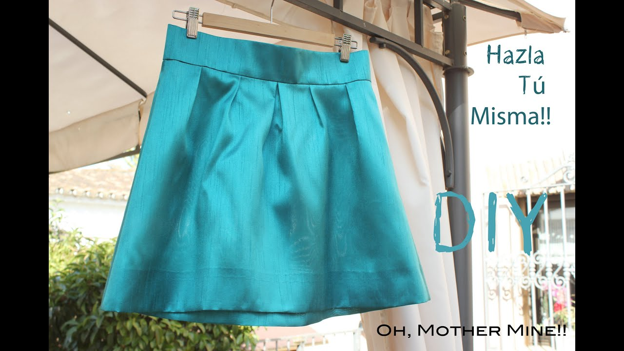 Diy como hacer y coser una falda plisada o tableada youtube - Como preparar unas judias verdes ...