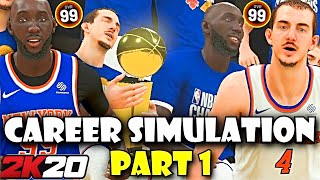 TACKO FALL AND ALEX CARUSO'S NBA CAREER SIMULATION PART 1 - NBA 2K20