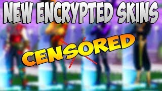 NEW ENCRYPTED SKINS IN FORTNITE BATTLE ROYALE
