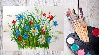 Видео урок Полевые цветы гуашью(Какие ваши любимые цветы? Для меня каждый цветок прекрасен, и обладает своим характером. И полевые цветы..., 2014-11-06T11:43:16.000Z)