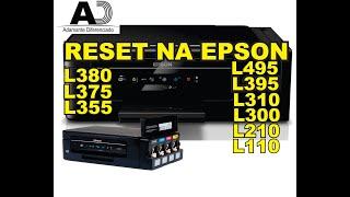 RESET NA EPSON  LUZES PISCANDO L380, L395, L375, L355, L310,L495, L350, L300,L210, L120, método 2020