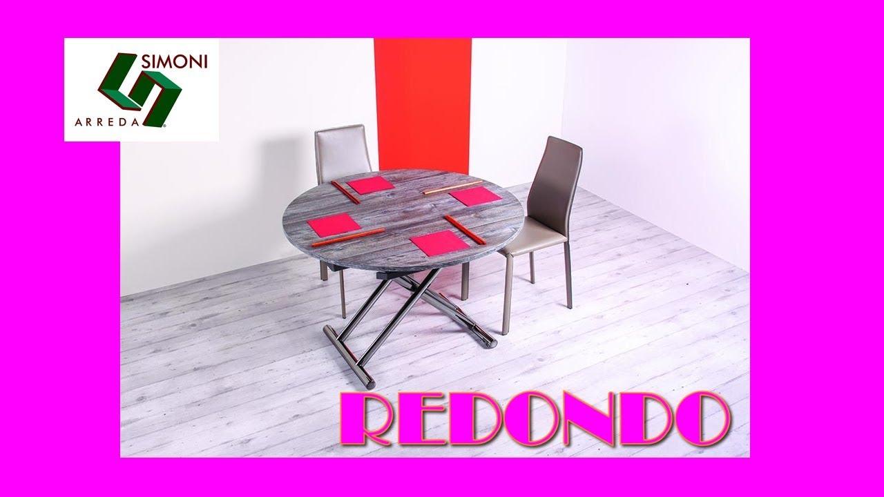 Tavolino trasformabile in tavolo da pranzo redondo youtube for Simoni arreda milano