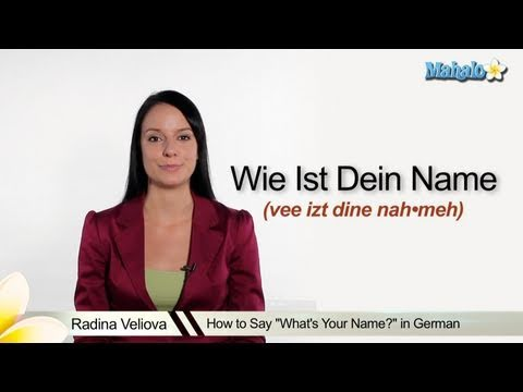 What Is Your Name In German >> How To Say Whats Your Name In German Youtube