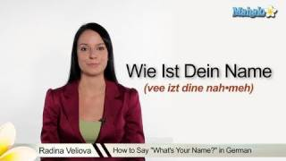 "How to Say ""Whats Your Name"" in German"