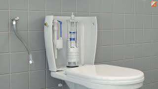 Serwis zaworu w kompakcie WC (wymiana)