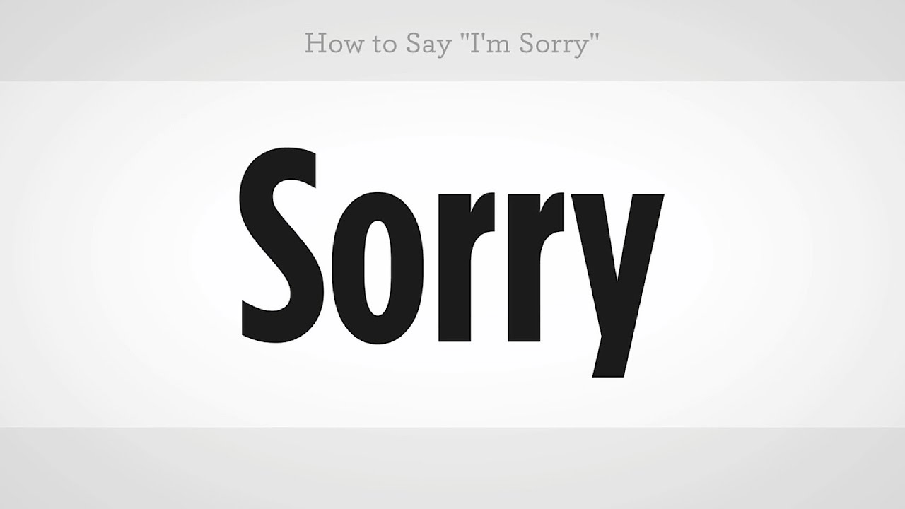 How To Say Im Sorry Mandarin Chinese Youtube