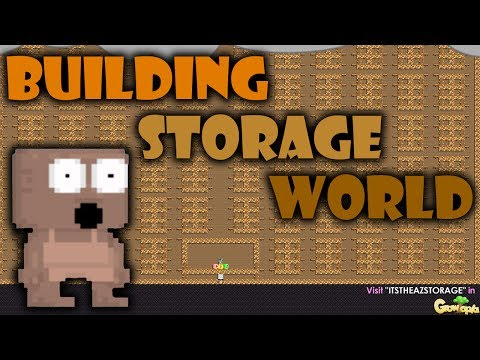 Growtopia | MAKING A 50WLS STORAGE WORLD!