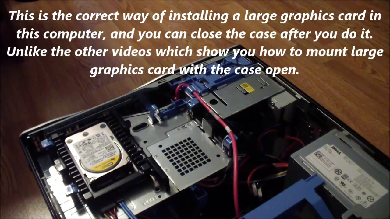 Dell Precision T3500 and T5500 How to Mount a Large Graphics Card