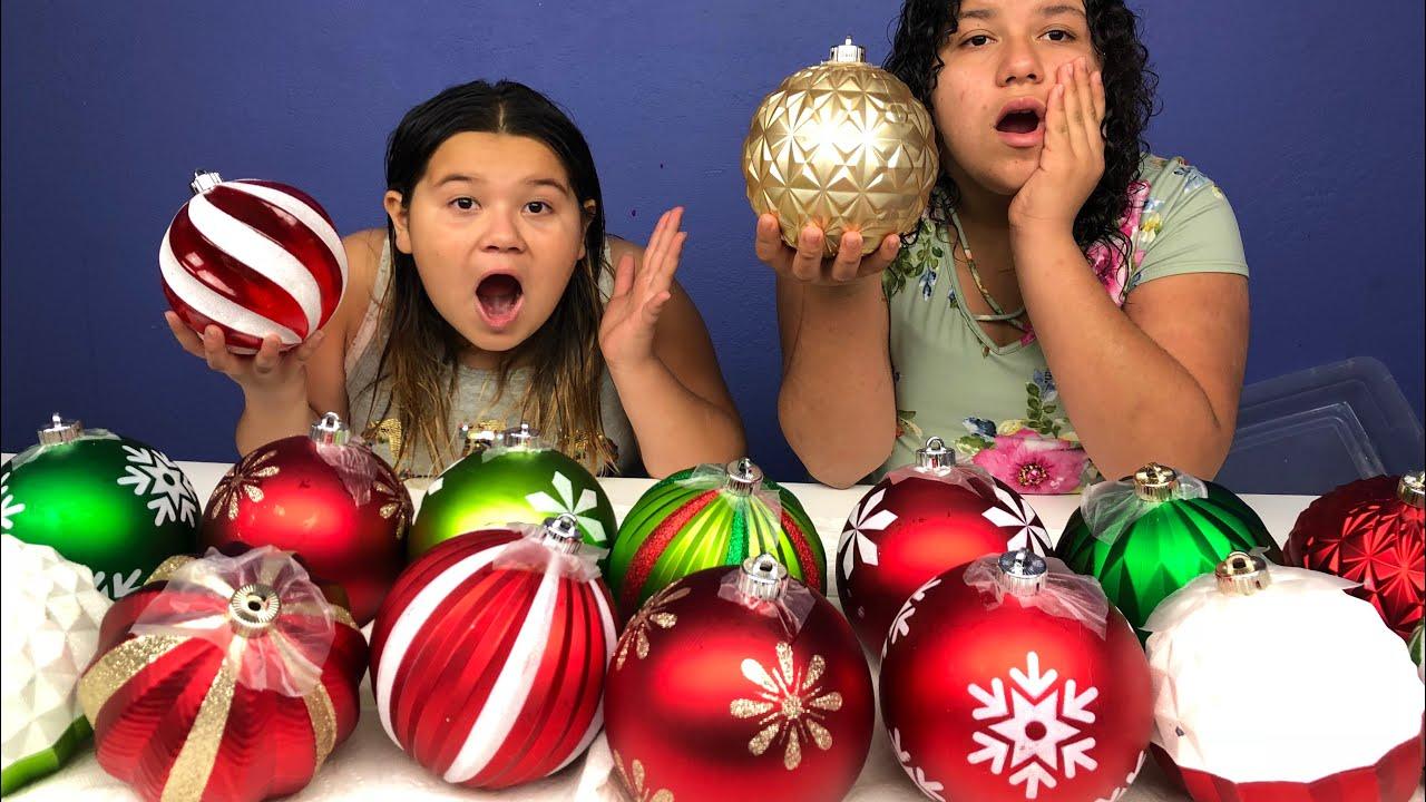 Don't Choose The Wrong Christmas Ornament Slime Challenge