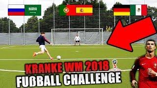 Kranke WM 2018 FUßBALL CHALLENGE!! - (FIFA World Cup 2018)