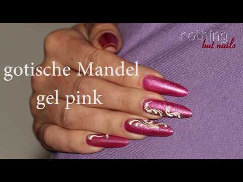 gotische Mandel Gel    gothic almond    nothing but nails