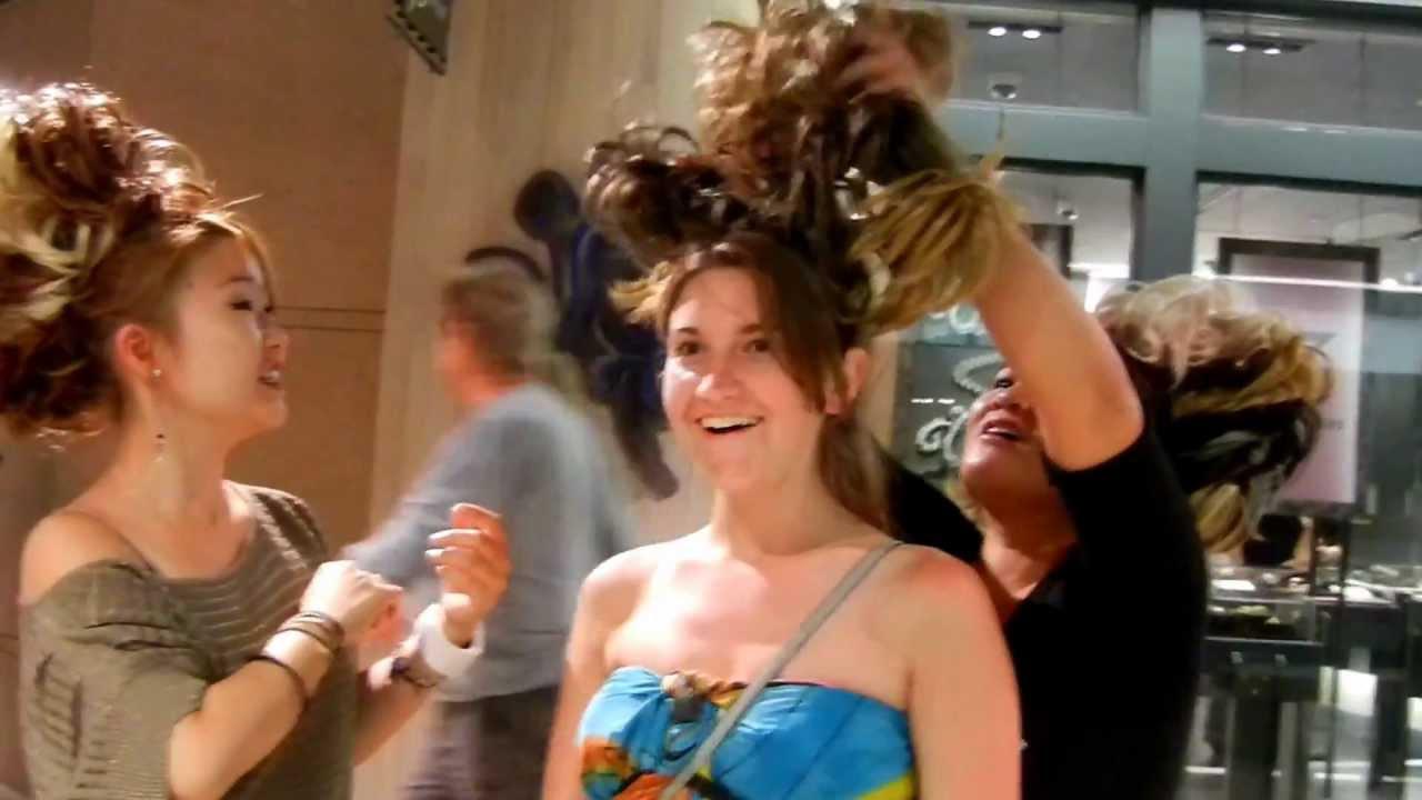 Lauren Gets Hair Extensions In Honolulu Oahu Hawaii May 2012