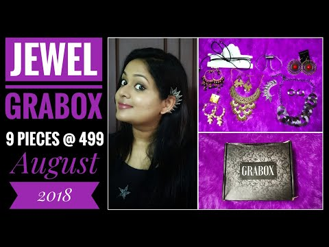 *giveaway open*Jewel Grabox August 2018 |9 pieces @ 499| Free shipping |Try On and Review