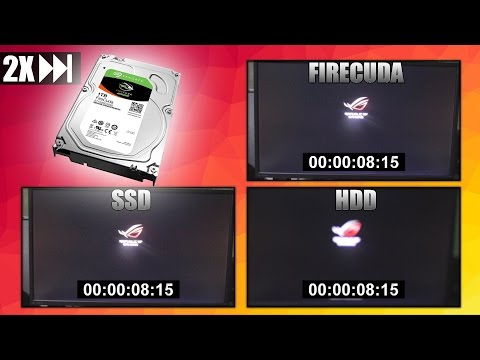 OVERVIEW of the SEAGATE FIRECUDA 2TB SSHD + Comparison VS HDD VS SSD