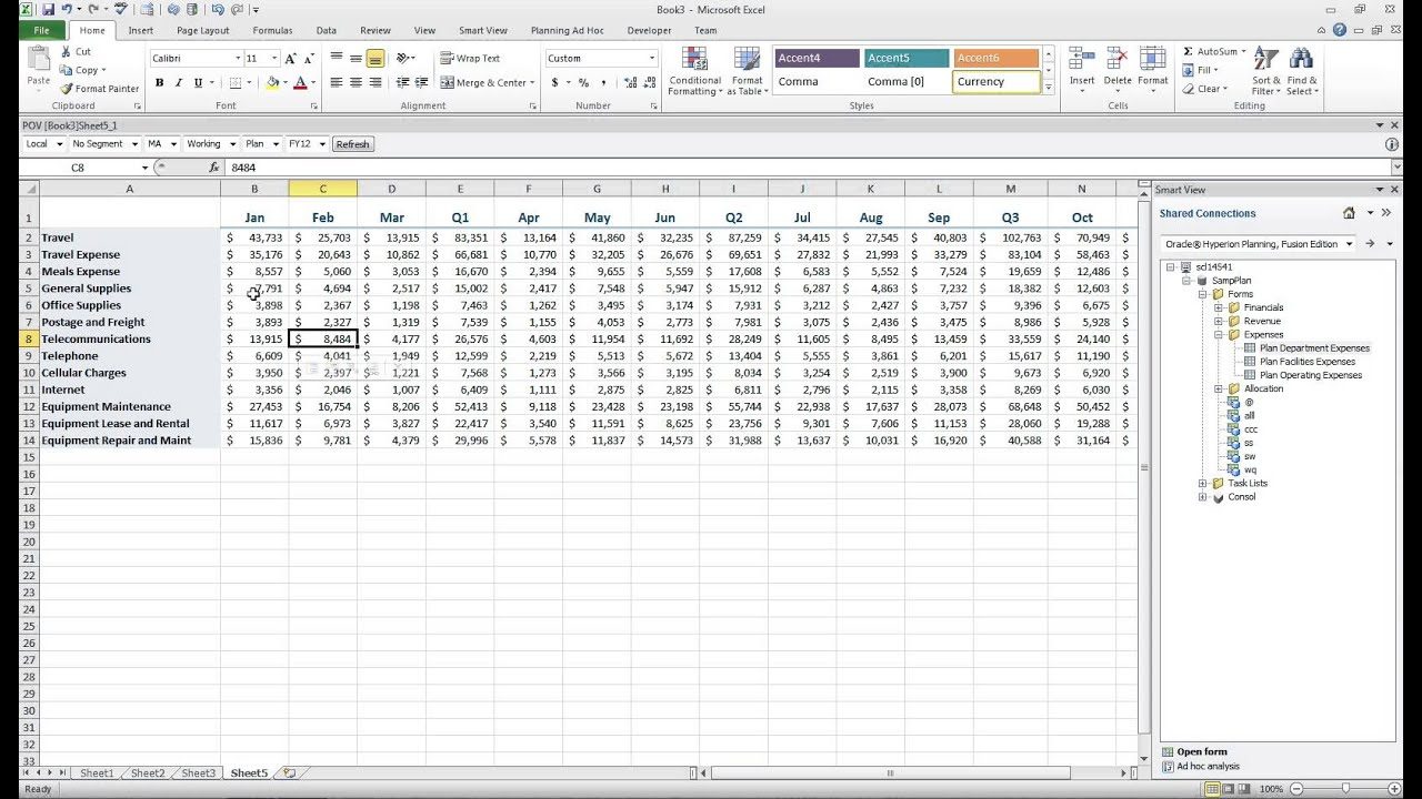 smart view data input templates with excel youtube