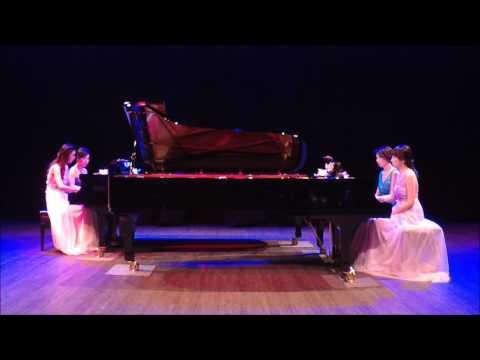 J. S. Bach: Toccata and Fugue in D minor (2 pianos 8 hands) - Malaysian Piano Quartet