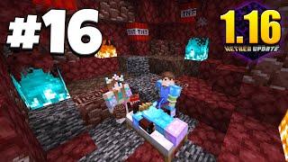 ХАЙ-ТЕК ВЫЖИВАНИЕ 1.16 #16 | ПОХОД В АДСКУЮ ШАХТУ! ВЗРЫВАЕМ КРОВАТИ! ВАНИЛЬНОЕ ВЫЖИВАНИЕ В Minecraft