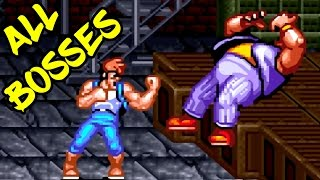 Super Double Dragon SNES 1992 - All Boss Fights