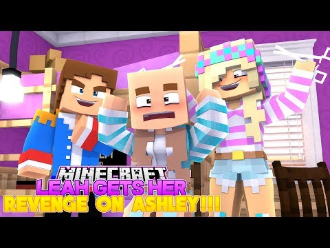 Minecraft LEAH SHAVES DONNY'S GIRLFRIEND'S HAIR OFF & KICKS HER OUT!!!- Donny & Leah Adventures!