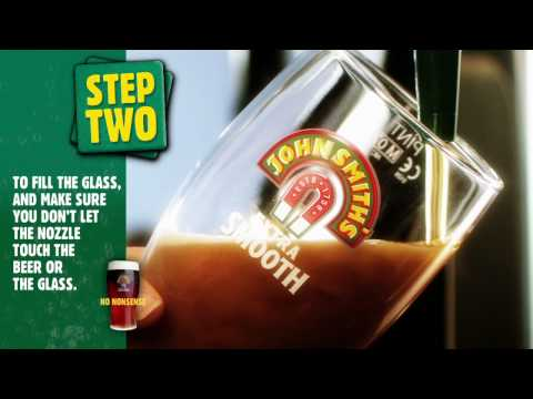 How to pull a perfect pint of John Smith's beer