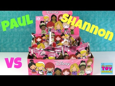 Paul vs Shannon Challenge Disney Series 7 Figural Keyring Blind Bag Opening | PSToyReviews