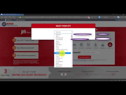How to open zero Balance Bank account in Kotak mahindra bank Full guide step by step