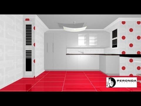 132 proyecto de cocina peque a rectangular youtube for Youtube videos de cocina