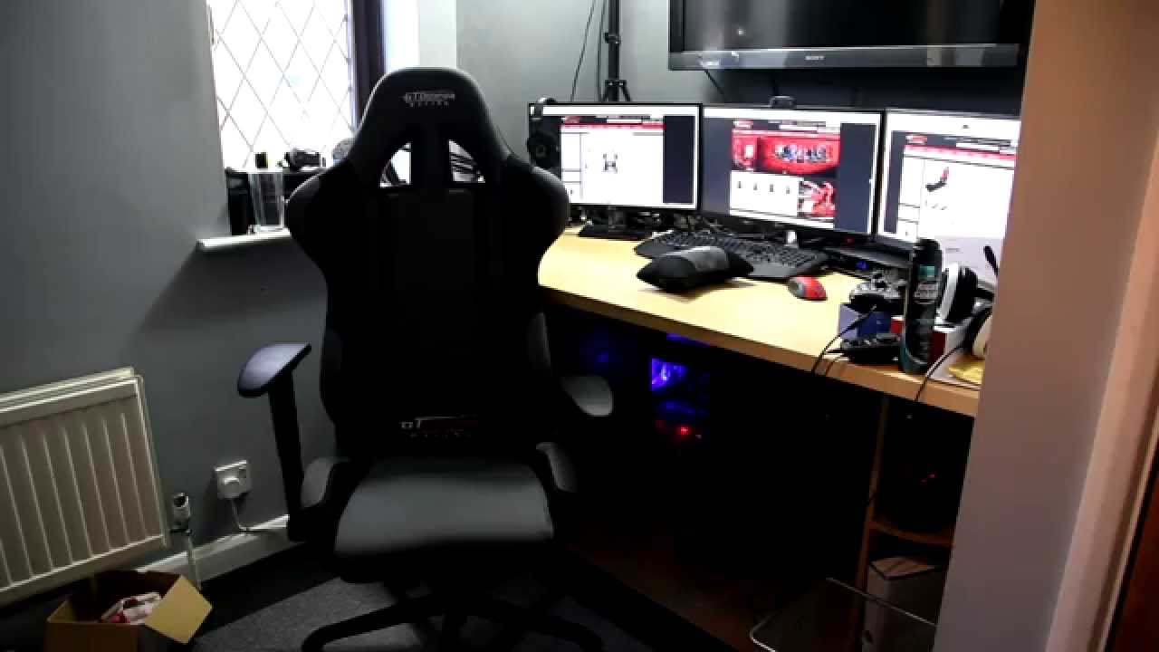 GT Omega Racing Pro Gaming Office Chair First Look U0026 Review!   YouTube