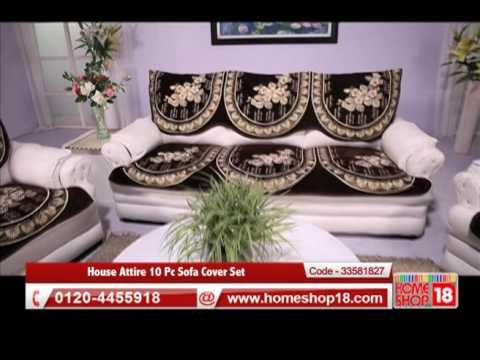 Homeshop18 House Attire 10 Pc Sofa Cover Set