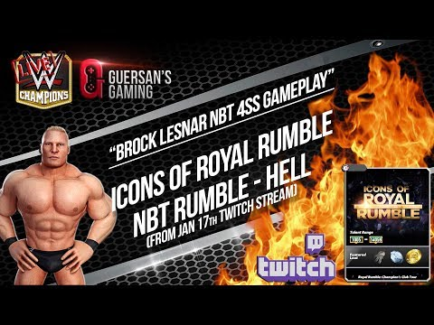 NBT Brock 4SS Gameplay 😈 / Rumble 03-05-07 - Hell - From Jan 17th Stream / WWE Champions 🔥