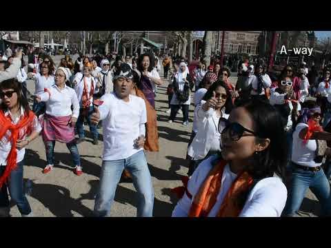 Flashmob GOYANG JEMPOL - Pecah di BELANDA