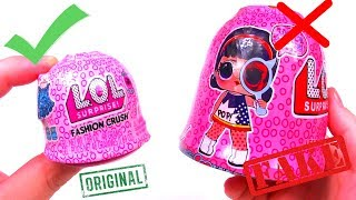 ОРИГИНАЛ LOL FASHION CRUSH SURPRISE 4 series UNDER WRAPS BIG Распаковка ЛОЛ BLIND BAGS FAKE