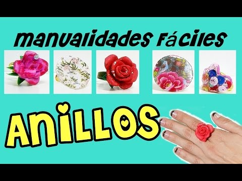 MANUALIDADES FACILES y BONITAS ANILLOS FACILES y ORIGINALES YouTube